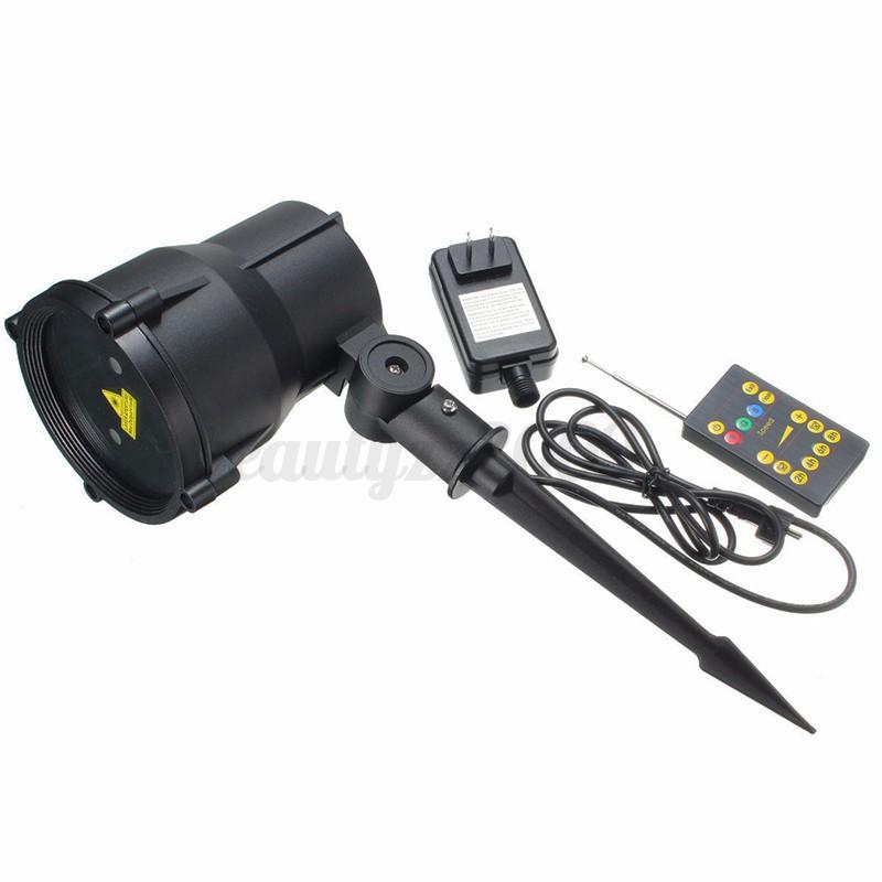 Laser Proiettore Luci LED Giardino Da esterno Backgroud Natale IP65+Telecomando