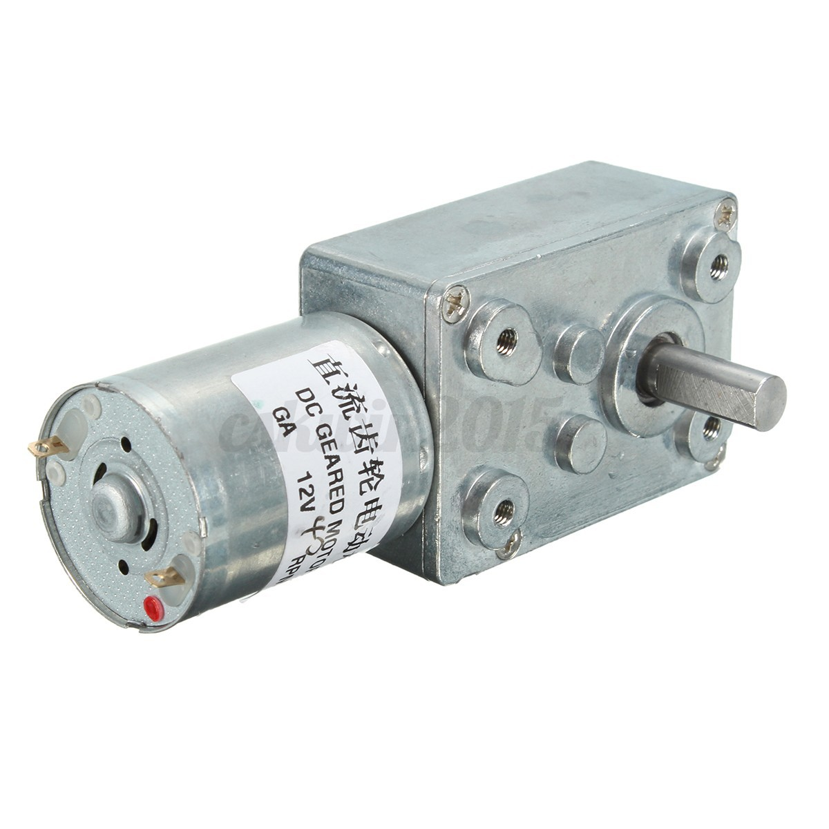 12v 40rpm Torque Turbo Worm Gear Box Geared Electric Drive