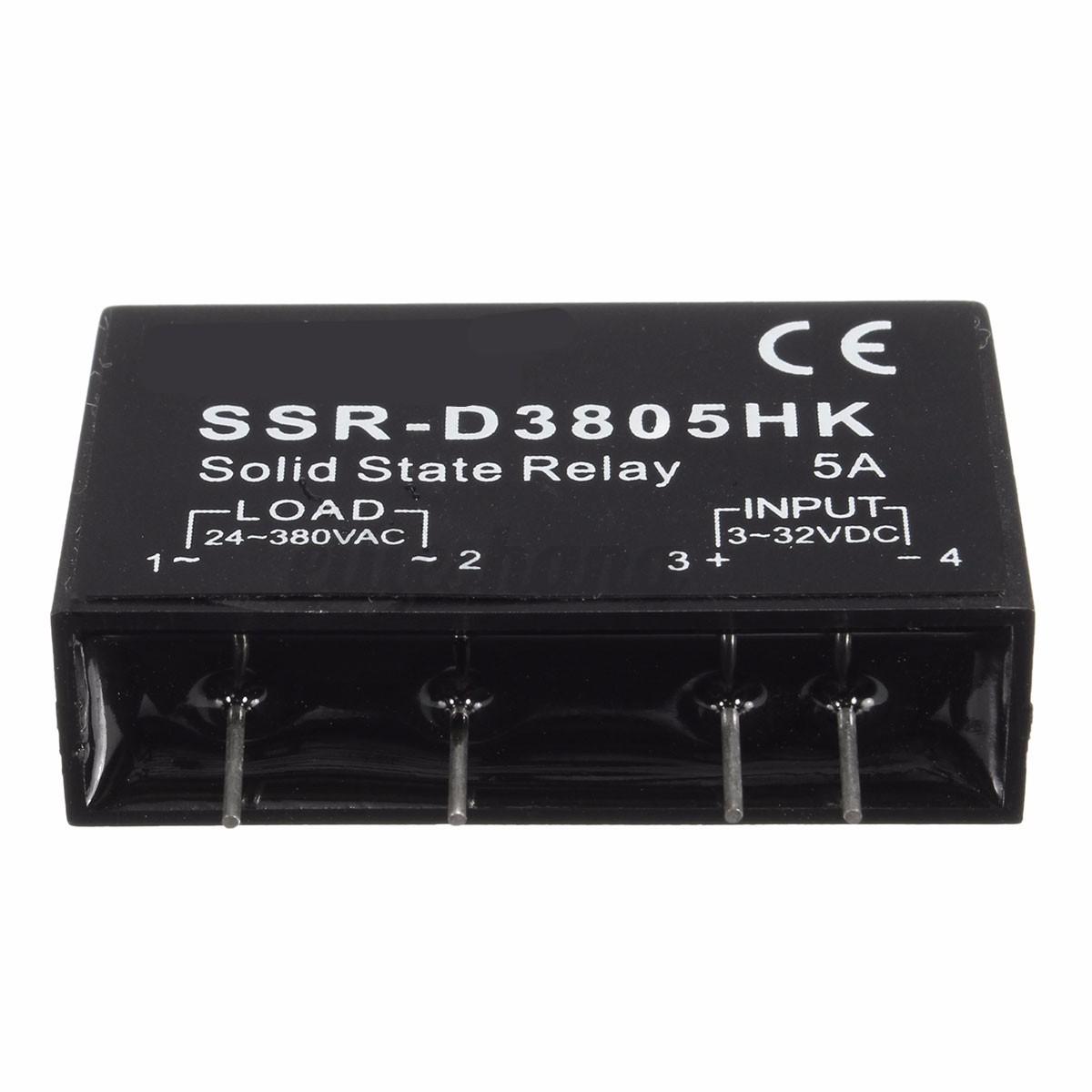 SSR Relè Stato Solido Relay Modulo 24 380V AC Input 3 32V DC AC  #29272B