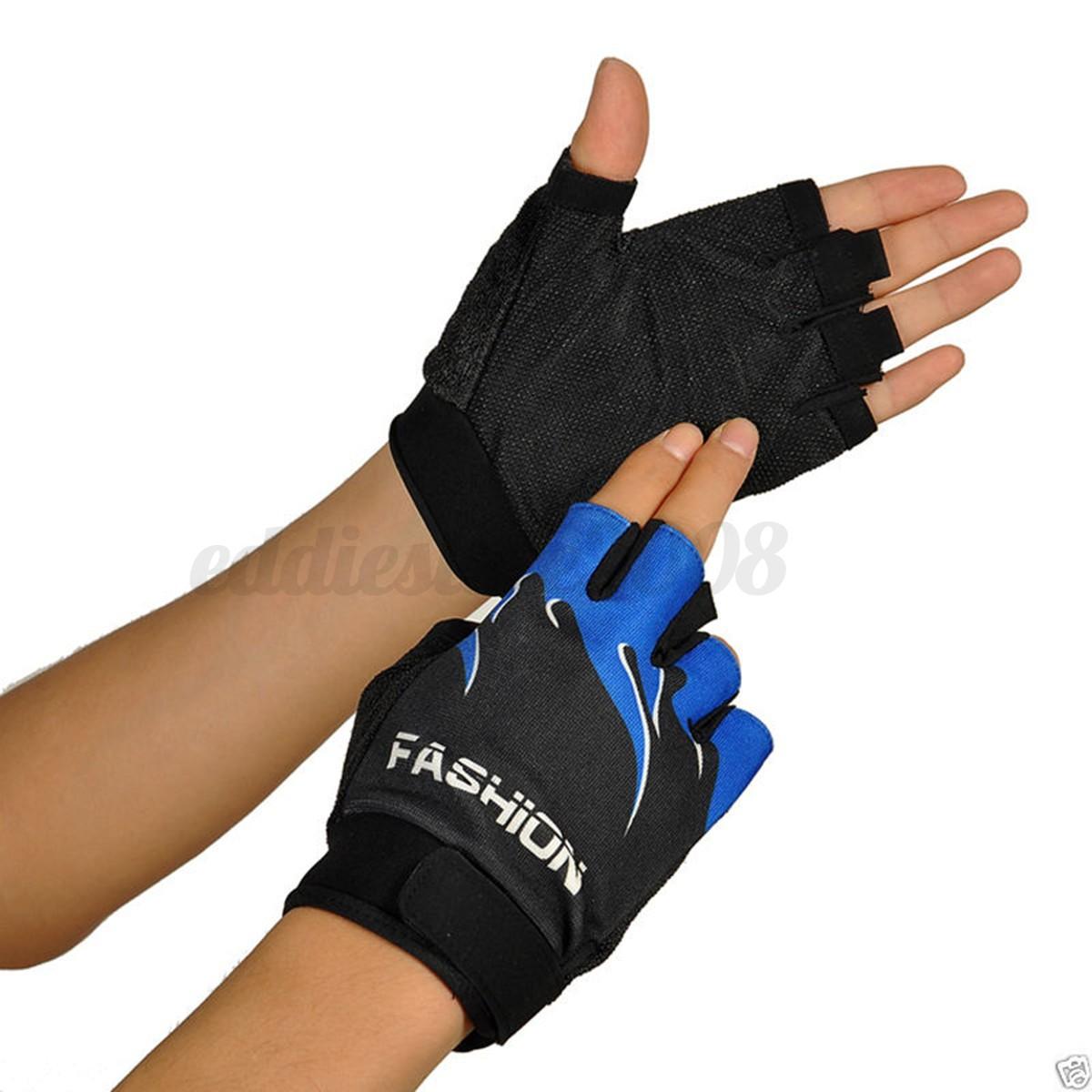 Sport Motorcycle Gloves: GEL SPORT BIKE BICYCLE CYCLING MOTORCYCLE HALF FINGER