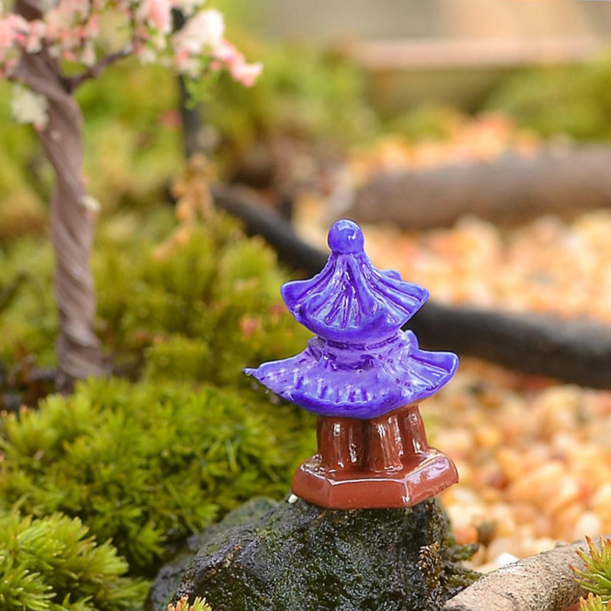 Diy fairy garden miniature house figurine craft micro for Diy miniature garden accessories
