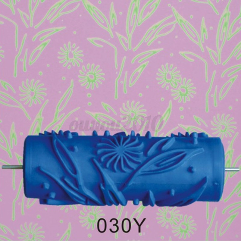 Wall Decoration Roller : Cm empaistic flower floral pattern painting roller