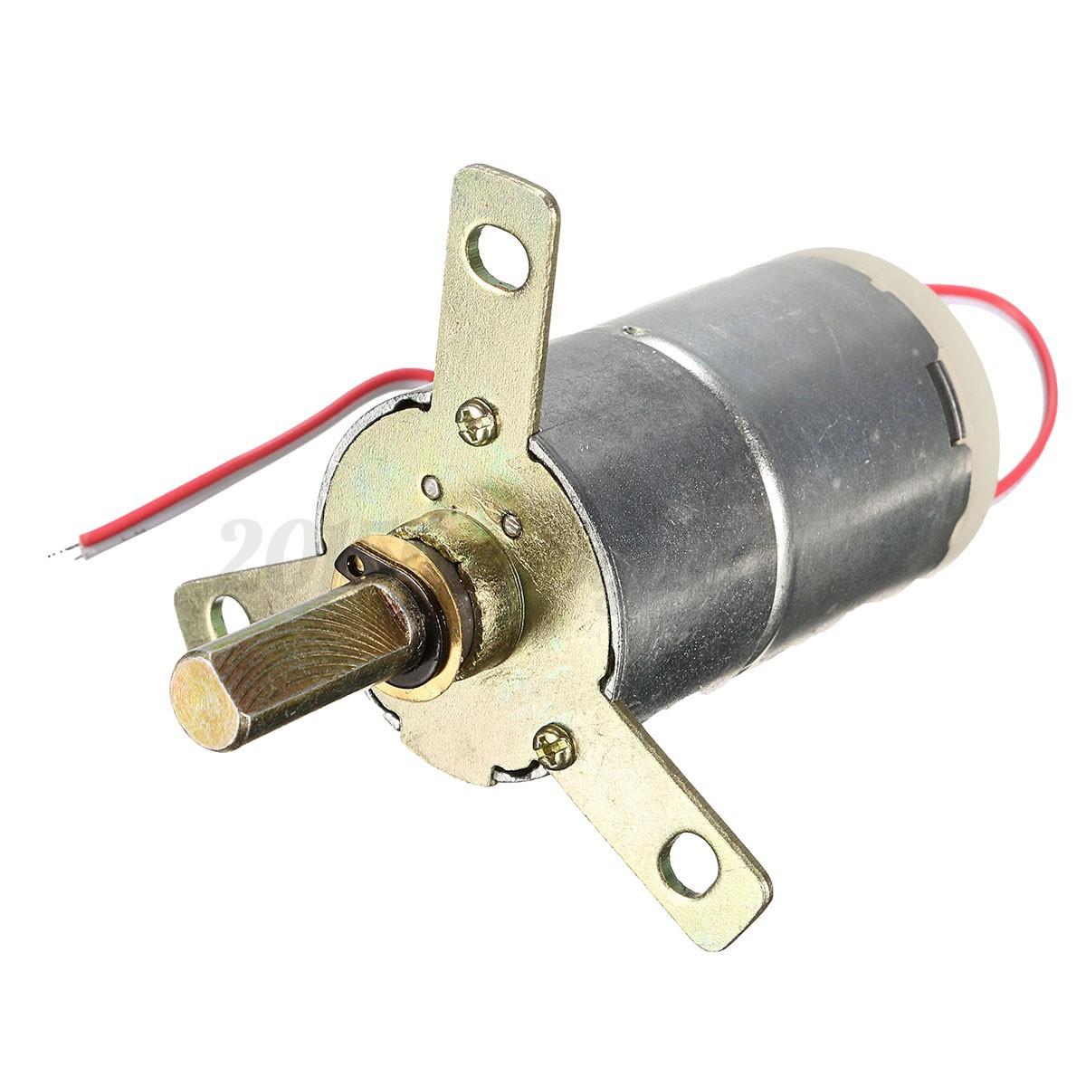 1pc dc 12v 25 rpm high torque gear box stabilivolt for 12v dc gear motor