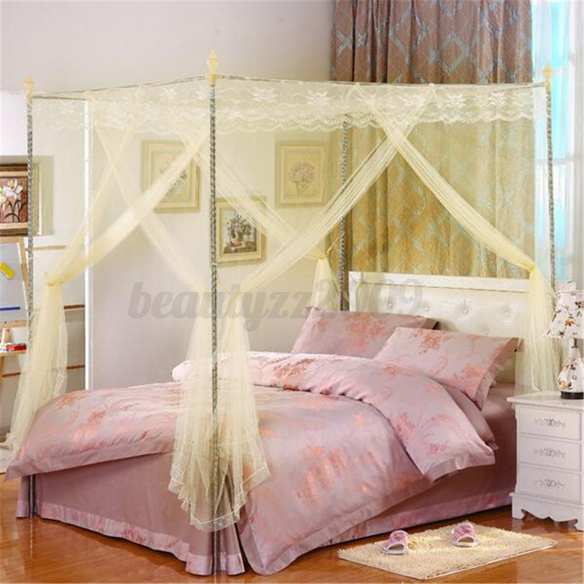 Elegant Round Curtain Bed Mosquito Net Canopy Netting