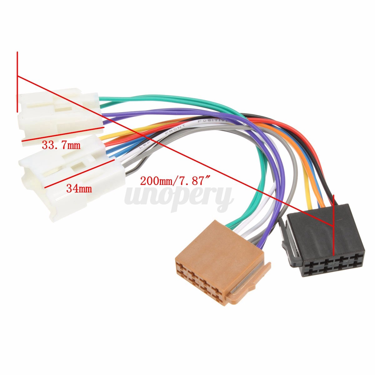 Iso Car Radio Stereo Harness Adapter Wiring Connector For Toyota Corolla Yaris