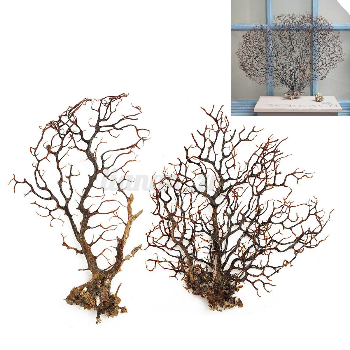 Arbre Artificielle Plantons Aquatique pr Fish Tank Aquarium Ornement Décoration