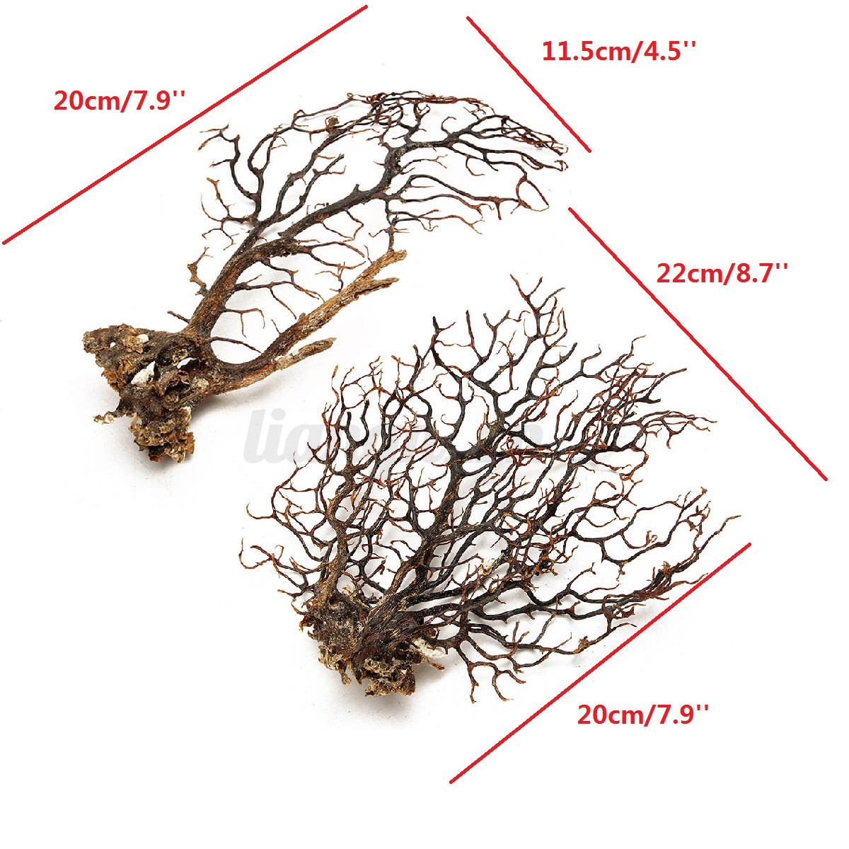 Arbre Artificielle Plantons Aquatique pr Fish Tank Aquarium Ornement Décoration 10