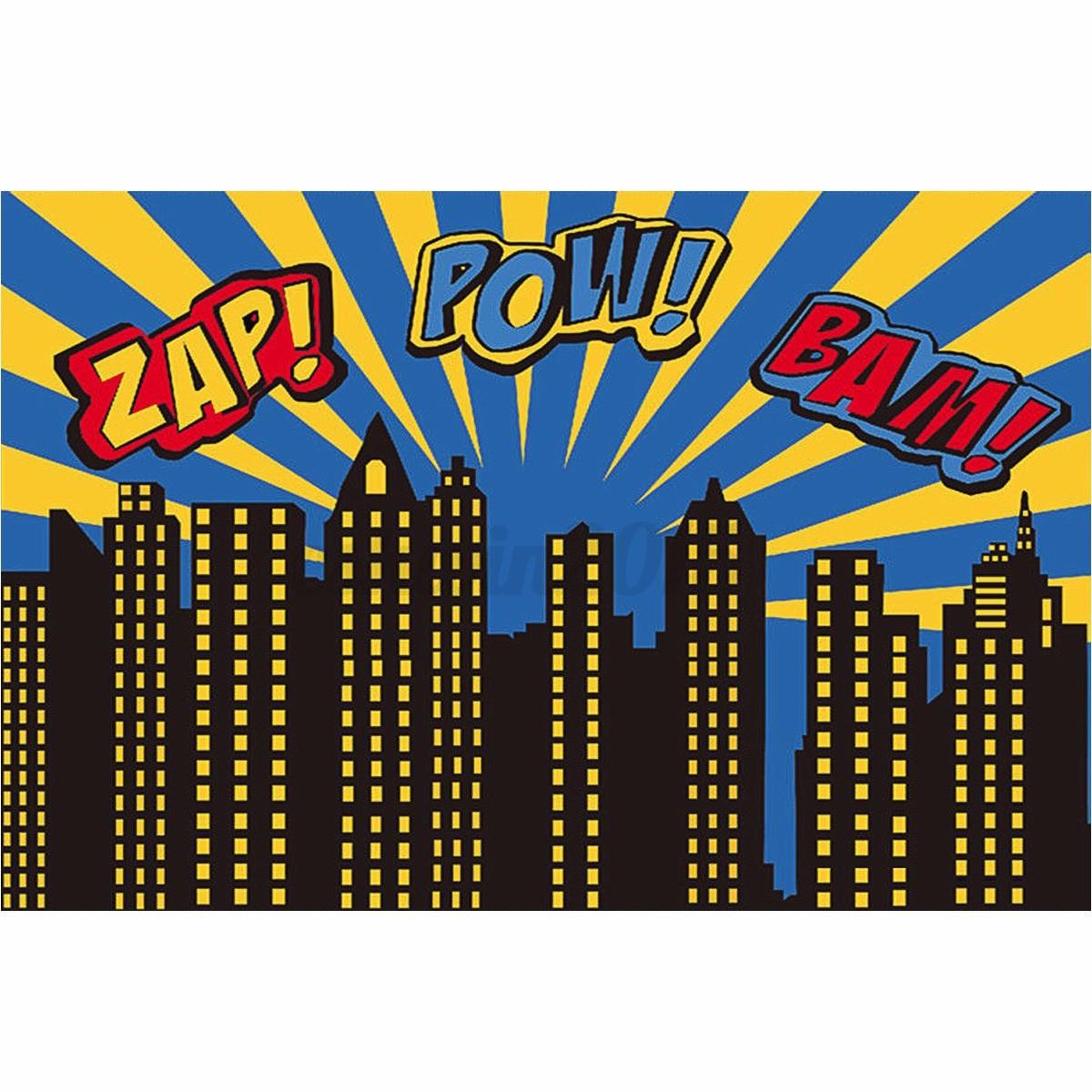 7x5FT City Building Superhero Backdrop Vinyl Photography ...