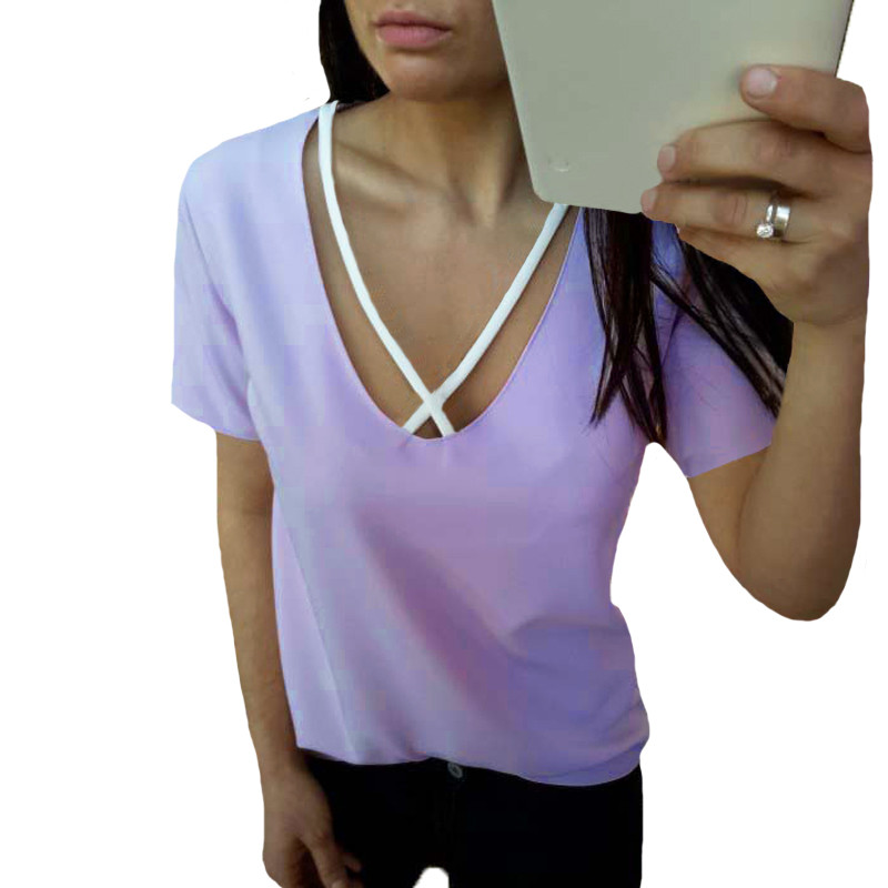 Low Cut V Neck Blouse 24