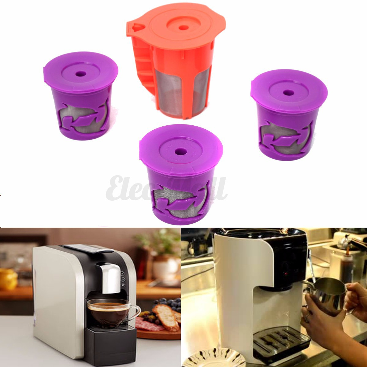 Combo Coffee Maker And Keurig : K-cups K-Carafe Refillable Reusable K-cup Coffee Filter Pod Combo For Keurig 2.0 eBay