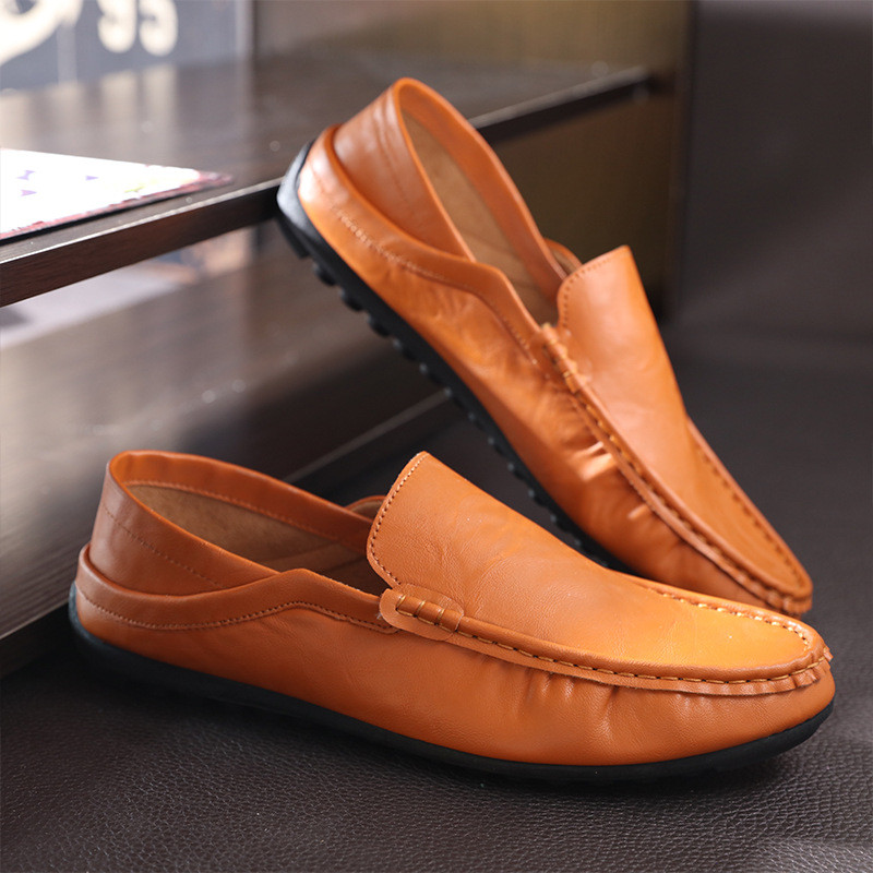 2017 mens casual slip on loafers leather driving moccasins