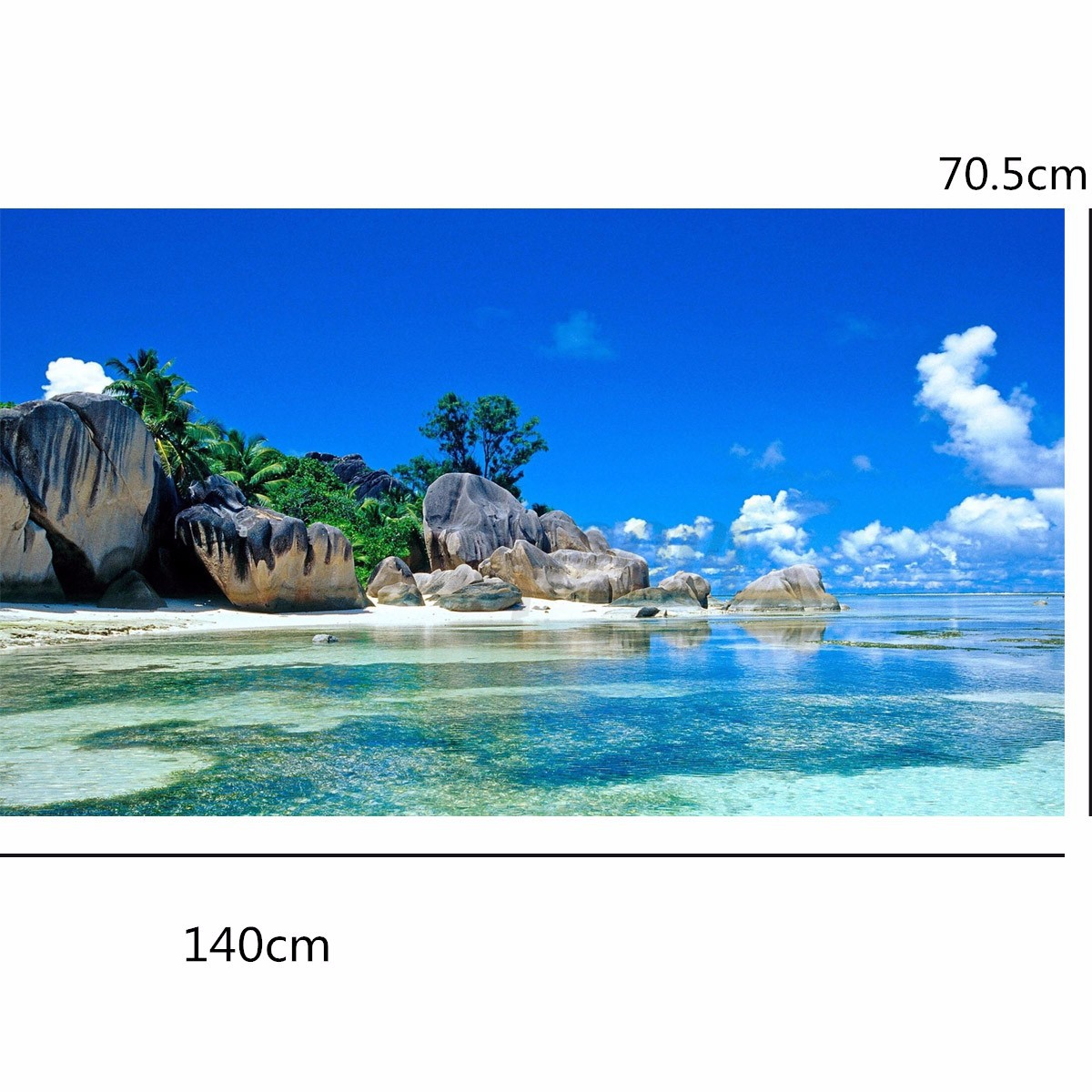 3d wallpaper bedroom living mural beach sea island for Ebay 3d wallpaper