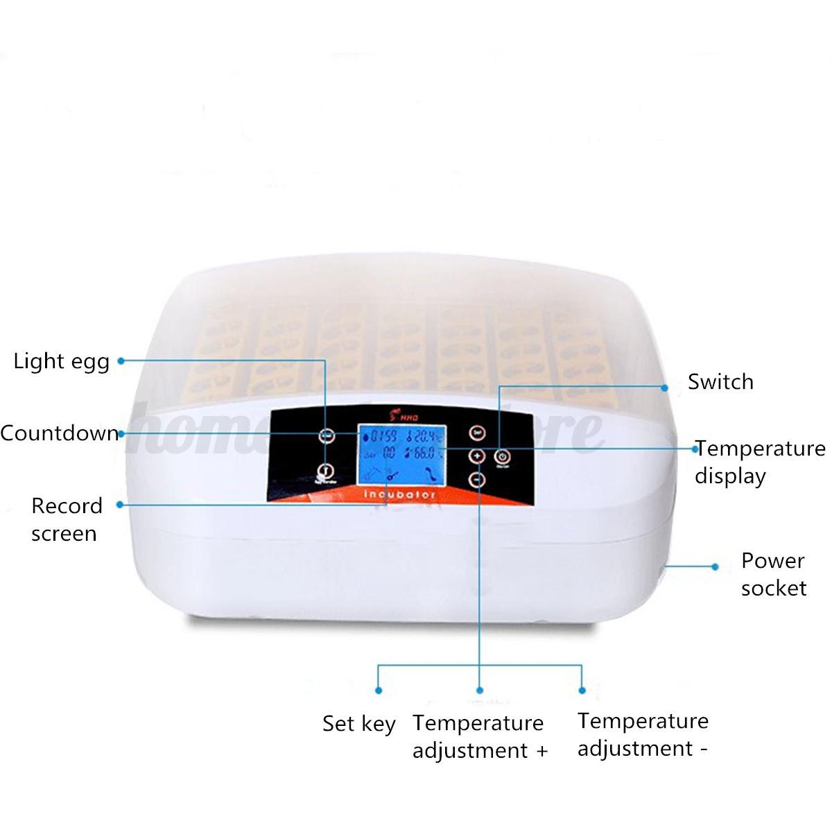 New Clear Egg Incubator Hatcher 56 Digital Temperature Control  #0F65BC