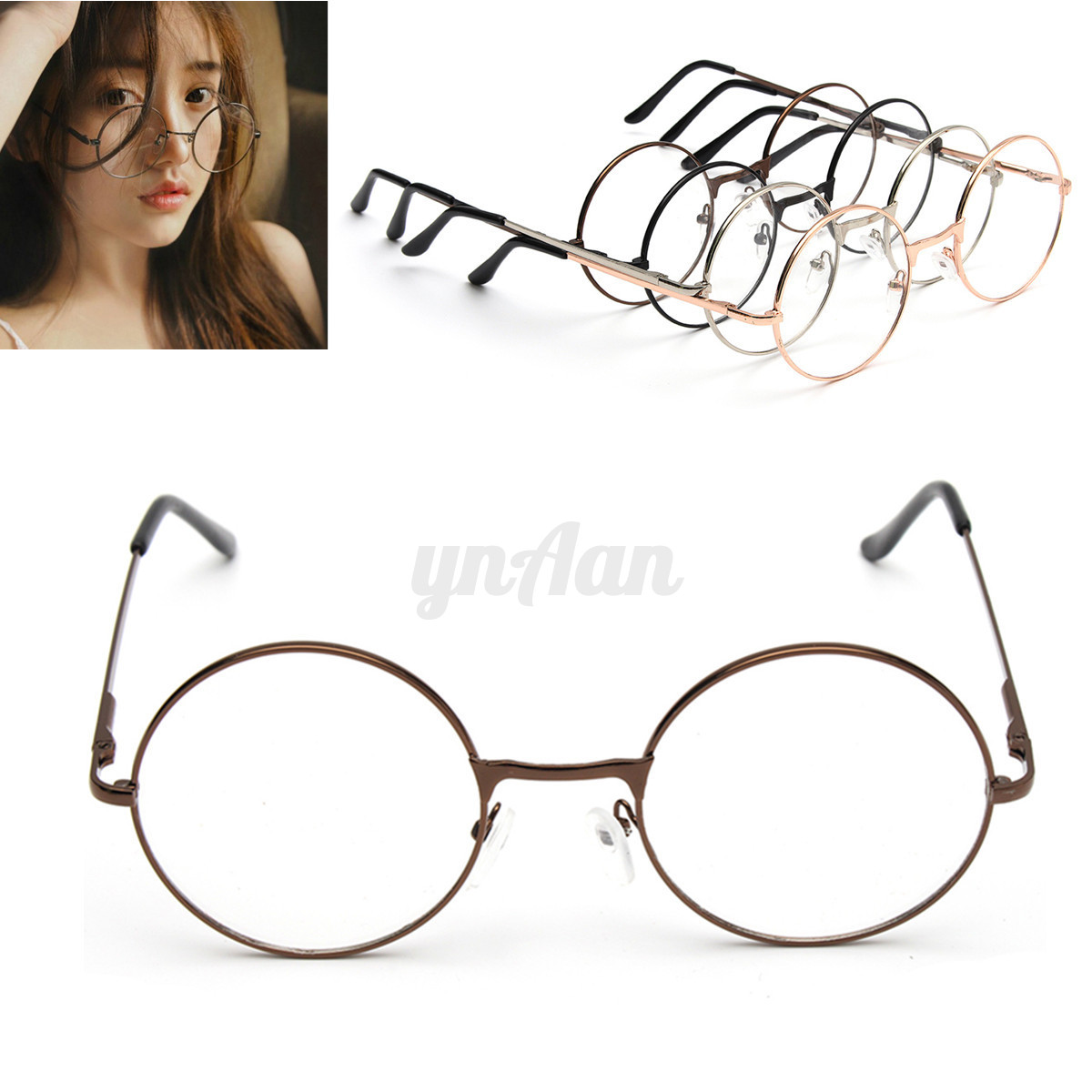 fashion vintage unisex clear lens eyeglasses