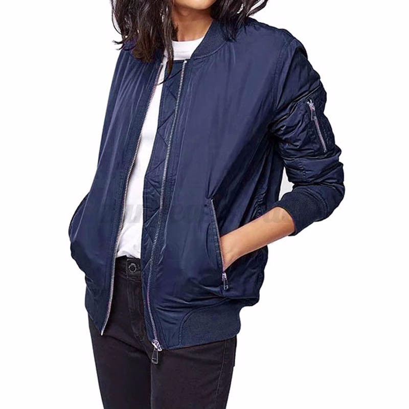 Fashion Plus Size Military Zip Up Bomber Jacket Biker Coat Thick Outwear Padded