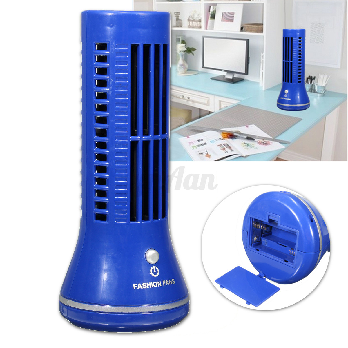 Mini USB Tower Fan Cooling Bladeless Laptop Air Conditioner eBay #2041AB