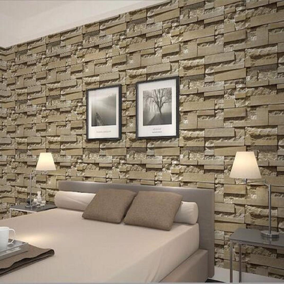 3d tapete stein steintapete vliestapete optik beige 10x0. Black Bedroom Furniture Sets. Home Design Ideas
