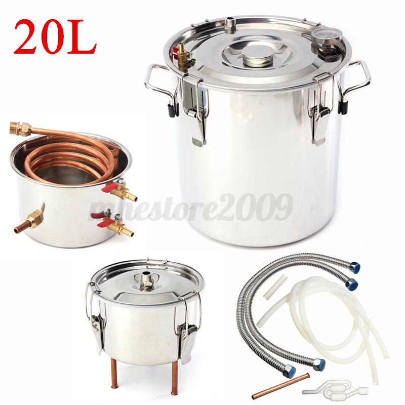 10l 30l alcohol moonshine copper water distiller stainless for Copper water boiler