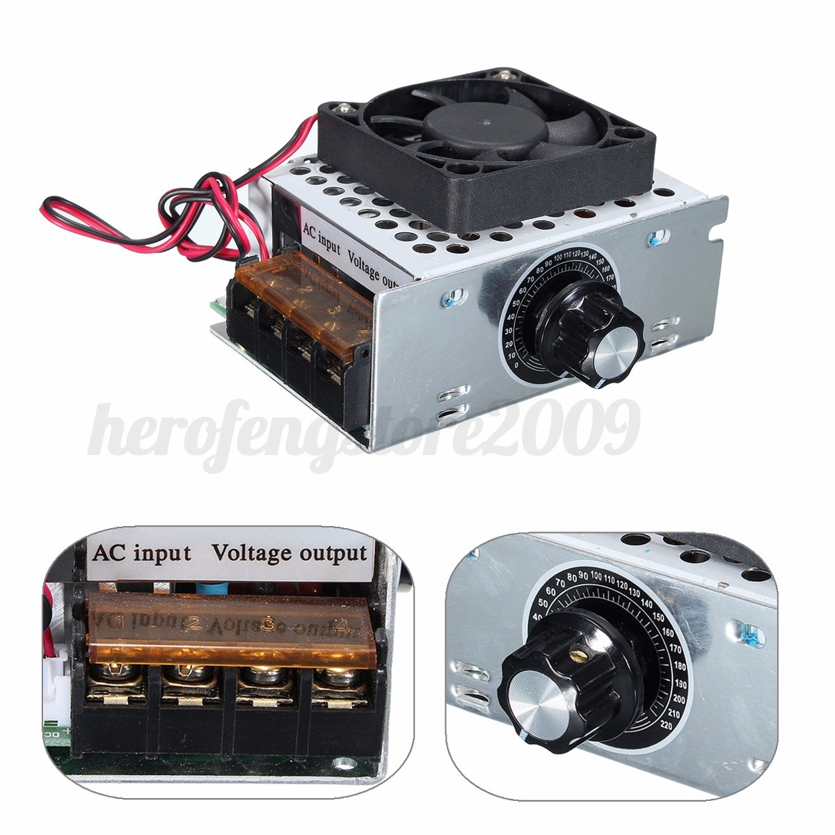 Ac 220v 4000w Scr Variable Voltage Regulator Motor Speed