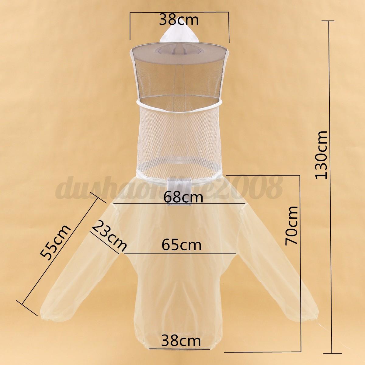 Abeille Moitié Corps Costume Apiculture Veste Voile Chapeau Blouse Protecteur 4
