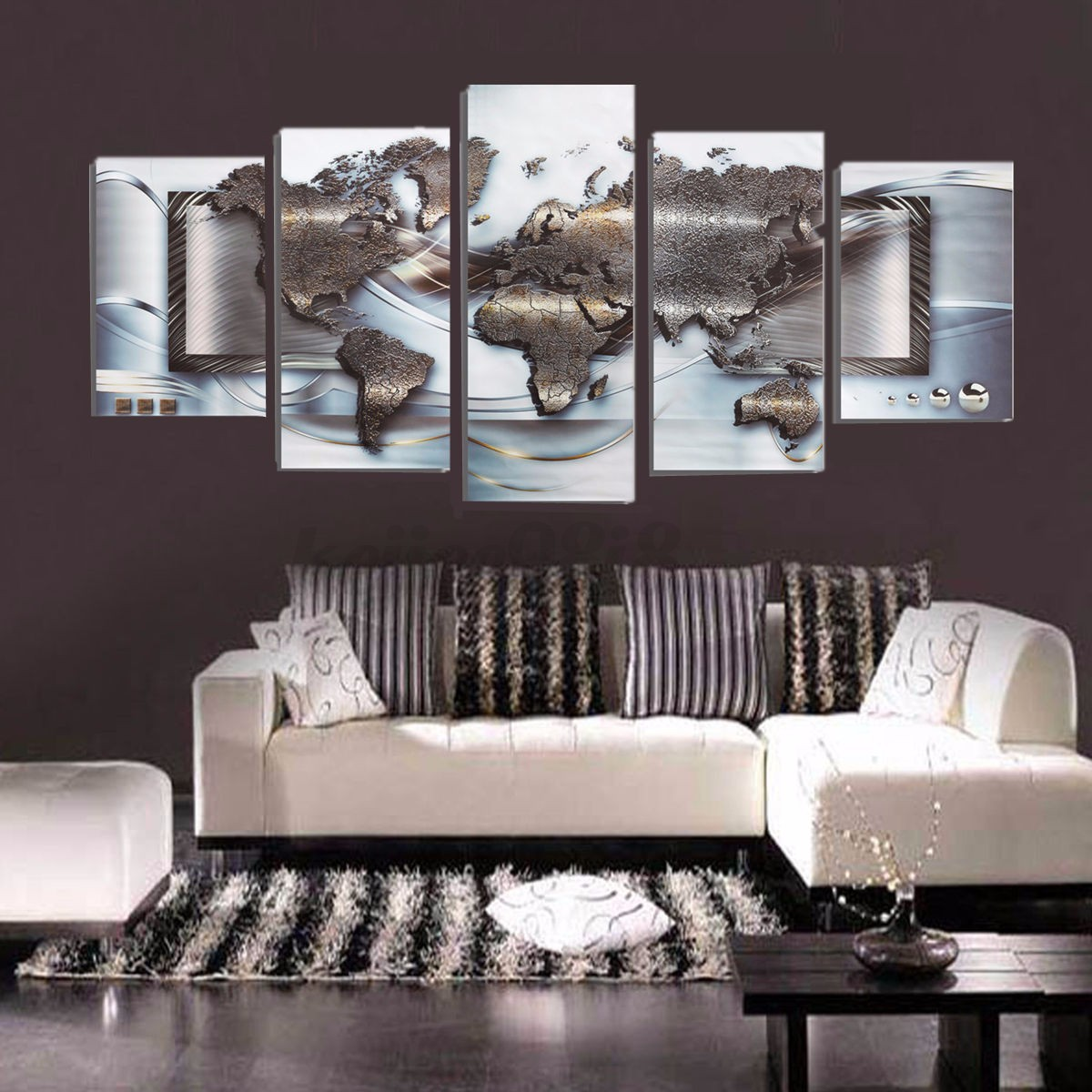 Large unframed canvas 3d world map print image picture for Large 3d wall art