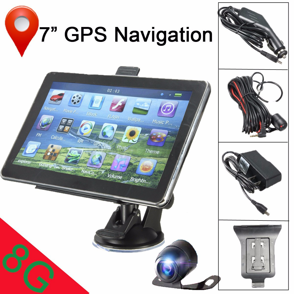 7 Quot Car Gps Navigation System Wireless Backup Camera