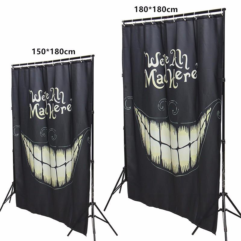 Cortinas De Baño Halloween:de Halloween Weird Smile Cortina Baño Ducha Impermeable Cortina