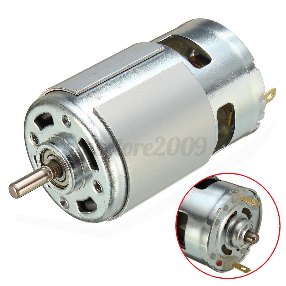 775 Dc 12v 24v 3500 9000rpm Motor Ball Bearing Large