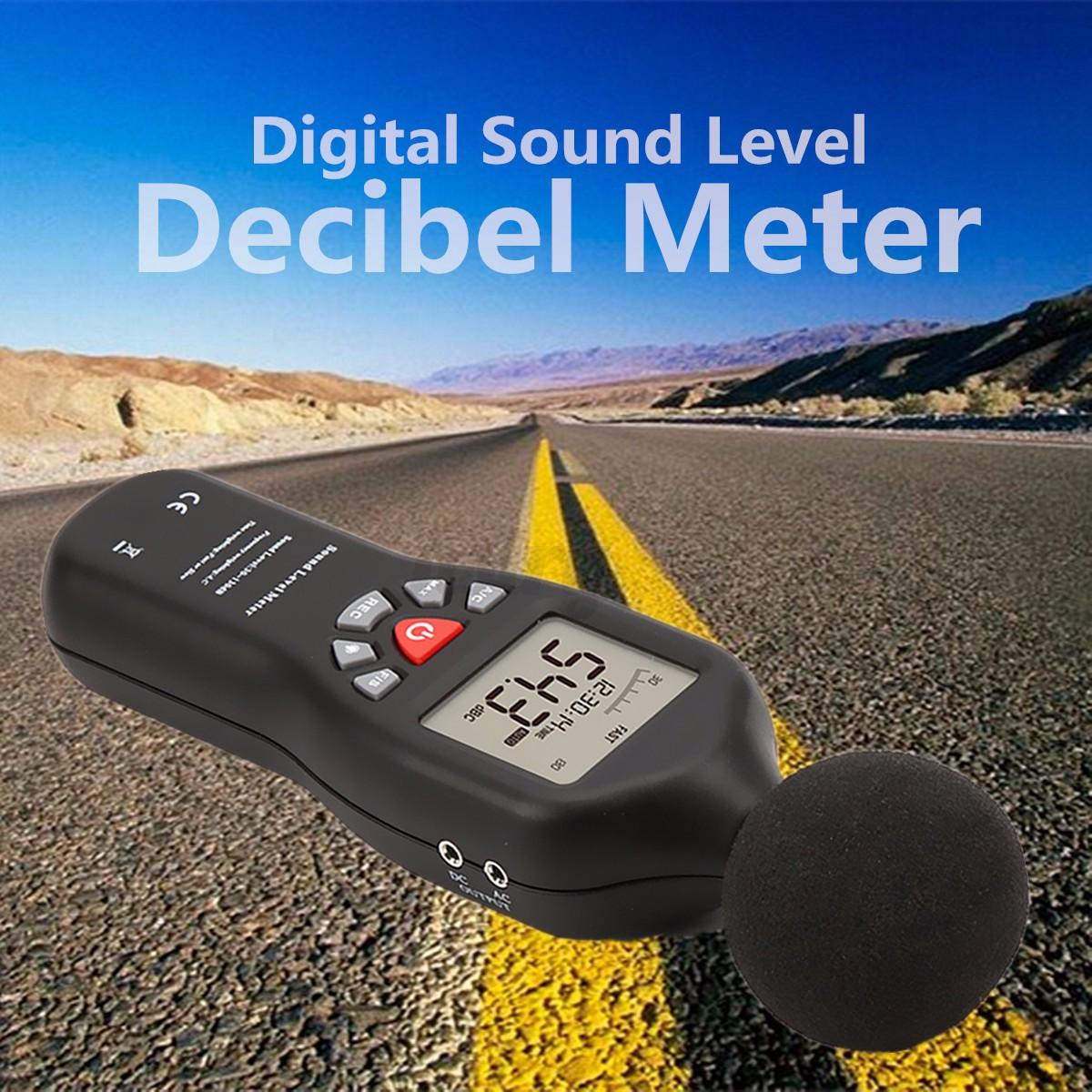 Digital Sound Meter : Digital sound level decibel meter sets data logger