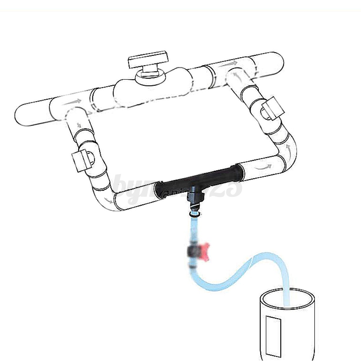 3  4 u0026 39  u0026 39  garden irrigation venturi fertilizer injector   switch water tube kit
