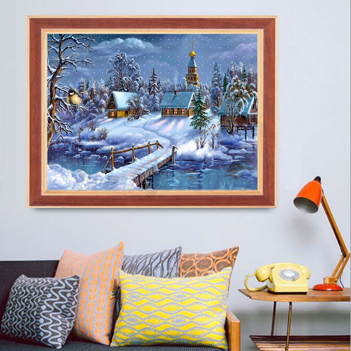 5d diy diamond painting christmas embroider cross stitch for Home decor 5d