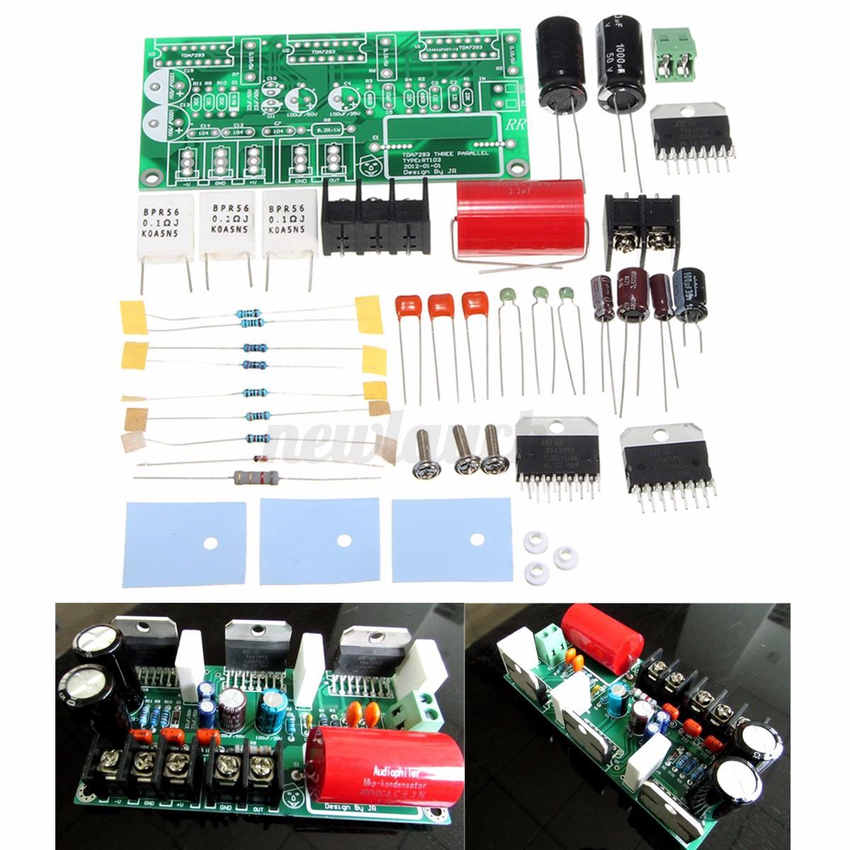 tda7293 three parallel 250w mono power audio amplifier board btl amp diy kits ebay. Black Bedroom Furniture Sets. Home Design Ideas