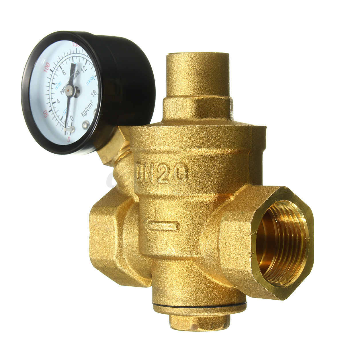 dn20 3 4 39 39 bspp brass water pressure reducing valve with gauge flow adjustable. Black Bedroom Furniture Sets. Home Design Ideas