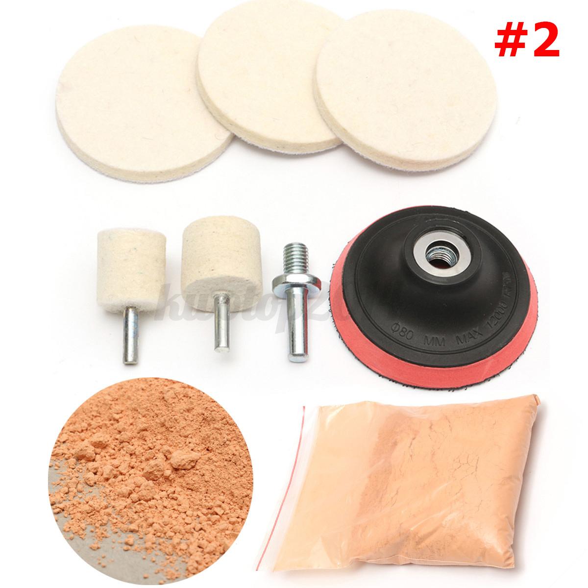 glass polishing kit w cerium oxide powder for car windscreen scratch remover ebay. Black Bedroom Furniture Sets. Home Design Ideas