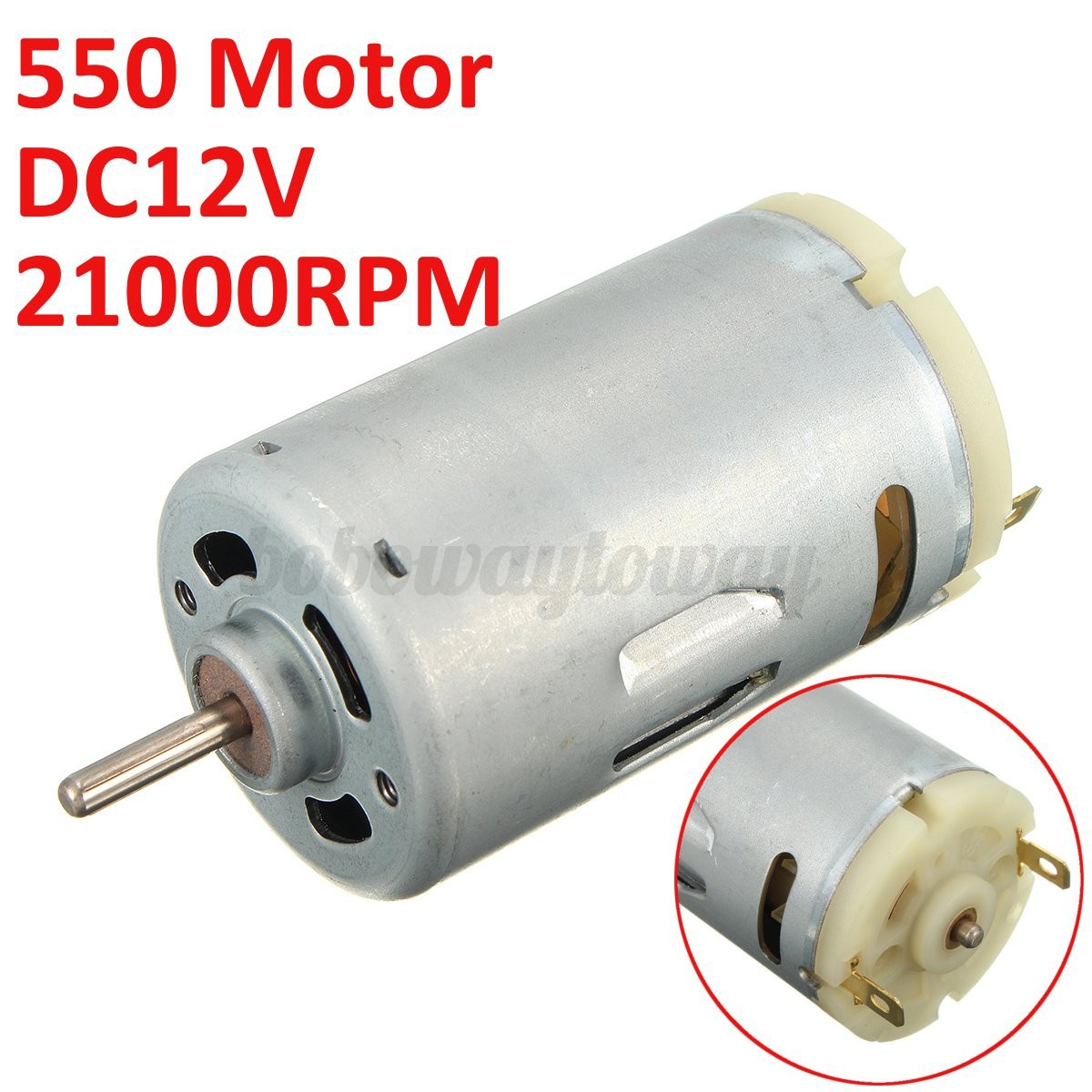 Dc 12v 550 Motor 21000rpm High Rotating Speed Motor Large