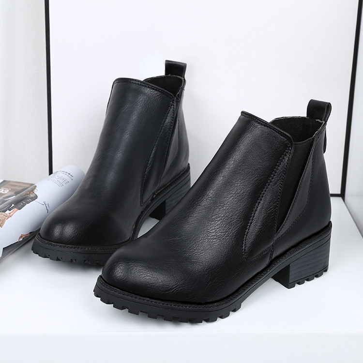 New Women's Winter Ankle Boots Low Heels Fashion Boots Autumn Winter Boots Shoes
