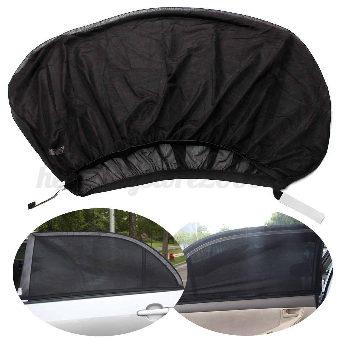 2pcs universal car window sun shades sock sox rear side. Black Bedroom Furniture Sets. Home Design Ideas