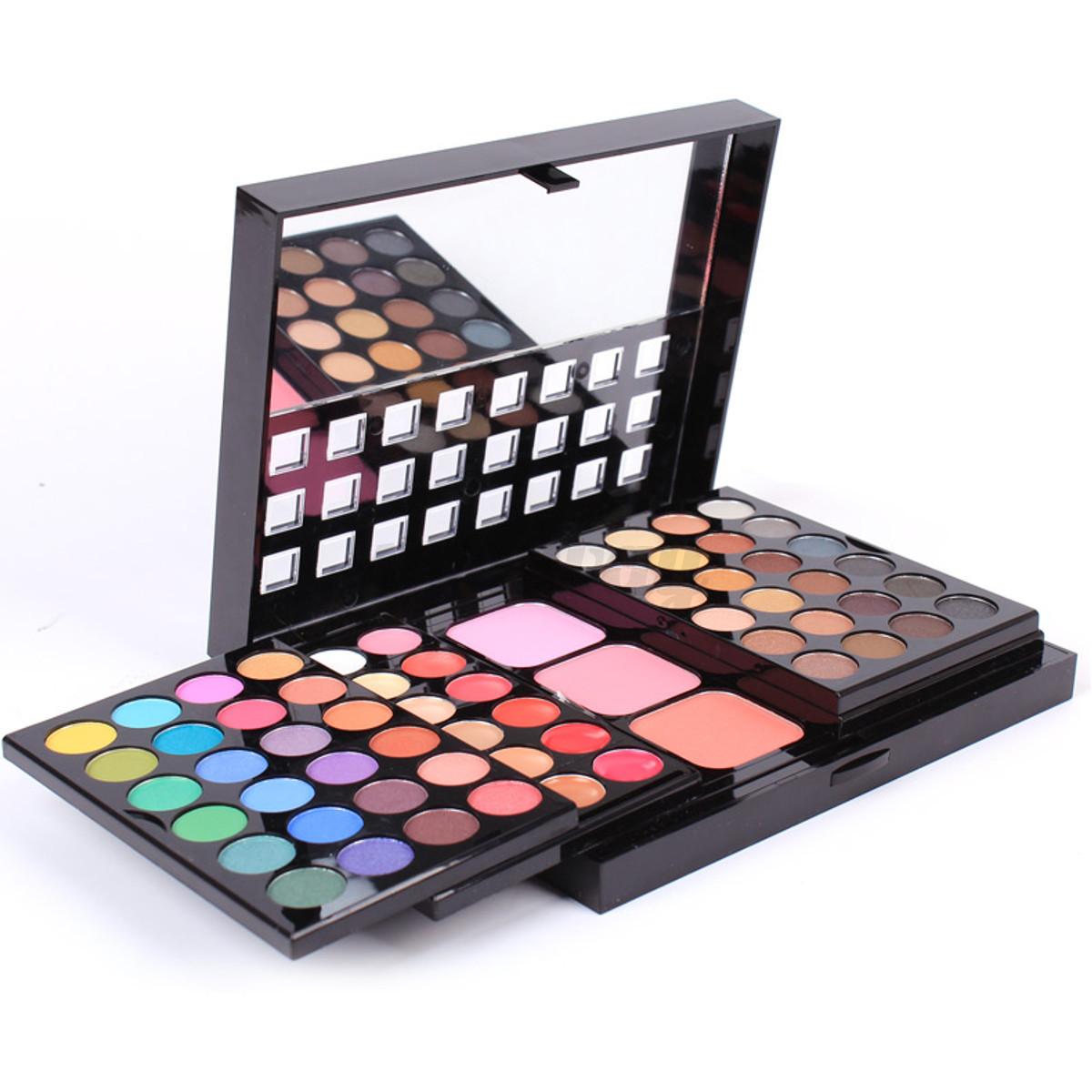 Kit eyeshadow lip gloss palette foundation powder blusher au ebay