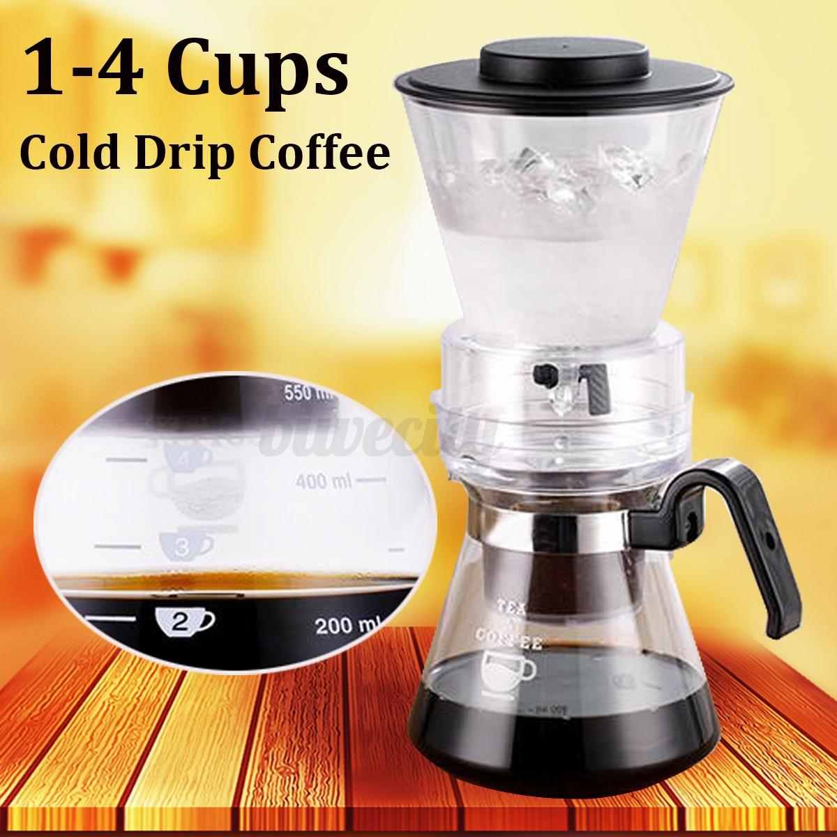 Cold Drip Coffee Maker Gumtree : 600ml Brew Coffee Cold Dutch Drip Water Home Hand Drip Maker Serve For 1-4 Cups eBay
