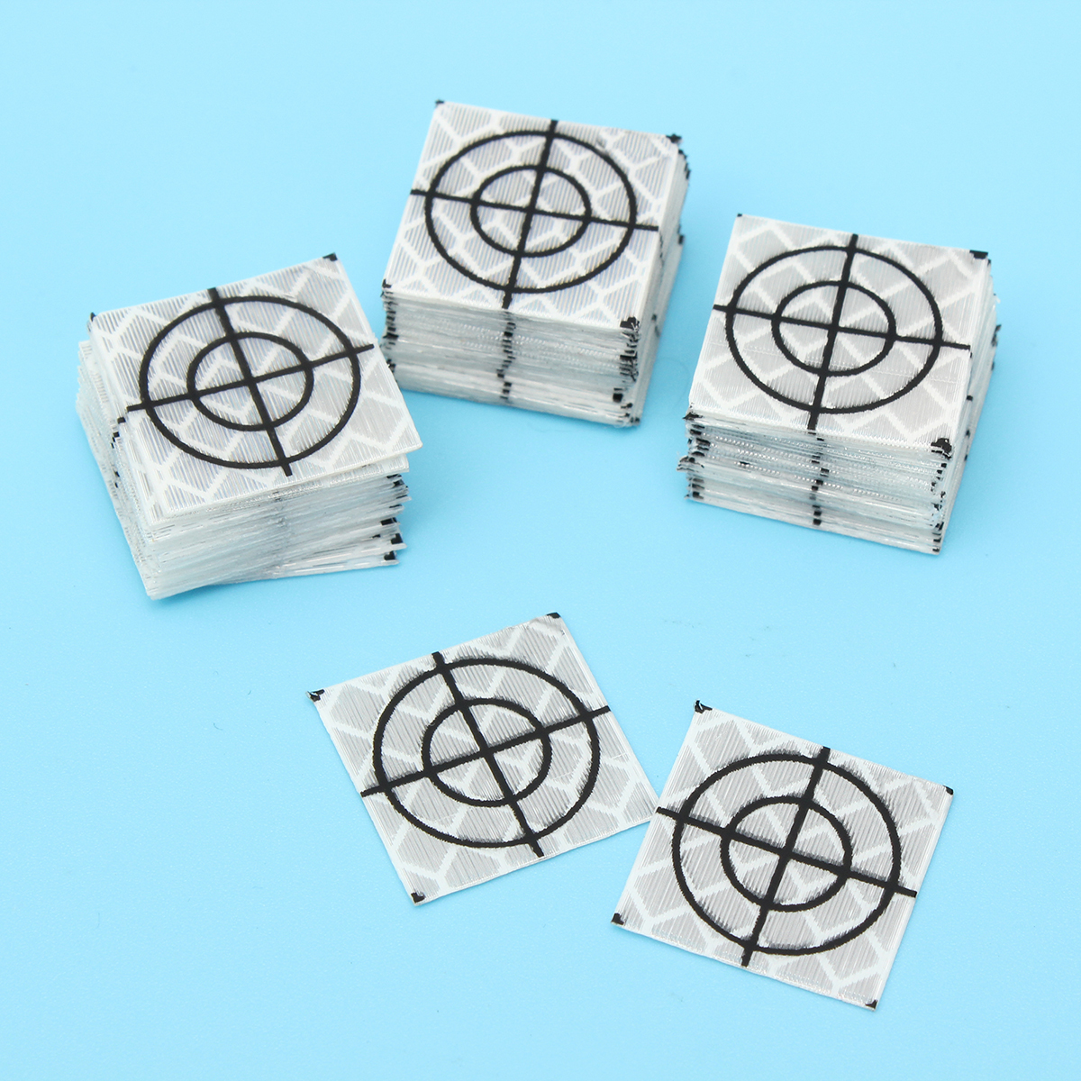 100pcs Reflector Sheet 20 x 20mm Reflective Tape Target Widely Used In Enginee