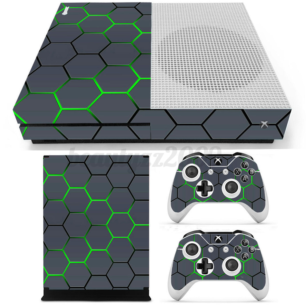 vinyl decal skin stickers cover for xbox one s console 2 controllers. Black Bedroom Furniture Sets. Home Design Ideas