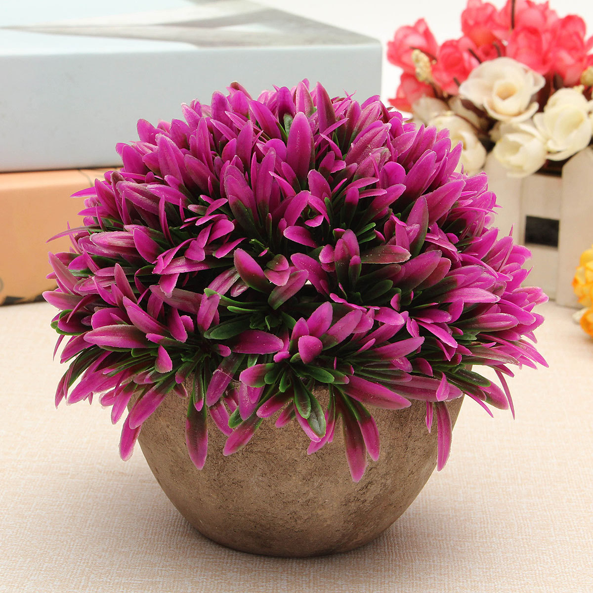 details about artificial topiary tree ball plants pot garden office artificial topiary tree ball plants pot garden
