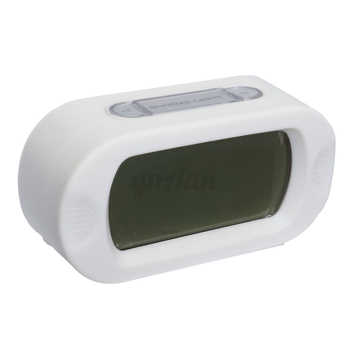 desktop alarm clock blue lcd display snooze battery operated digital lighted ebay. Black Bedroom Furniture Sets. Home Design Ideas