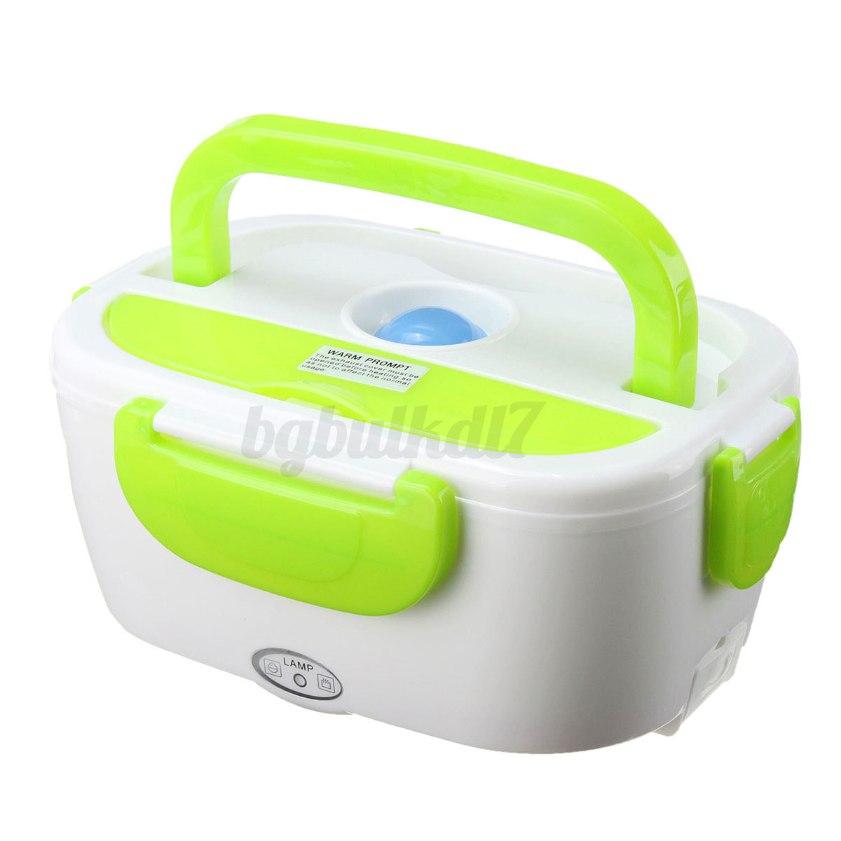 portable car plug electric heating heated lunch box bento food warmer contain. Black Bedroom Furniture Sets. Home Design Ideas