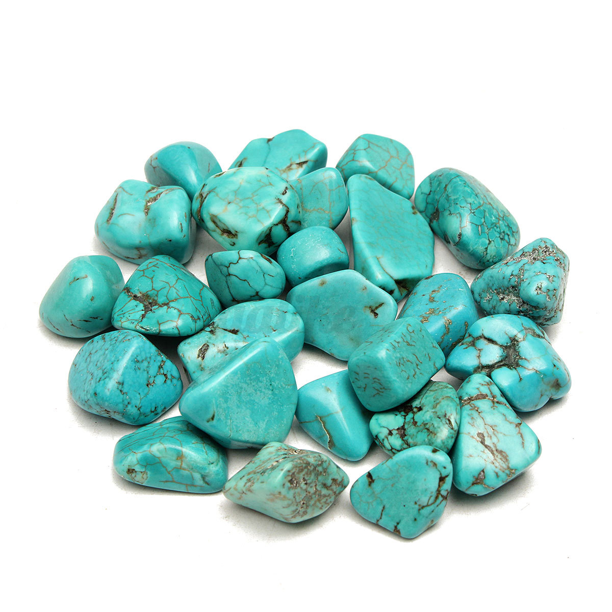 100g blue turquoise polished healing nugget