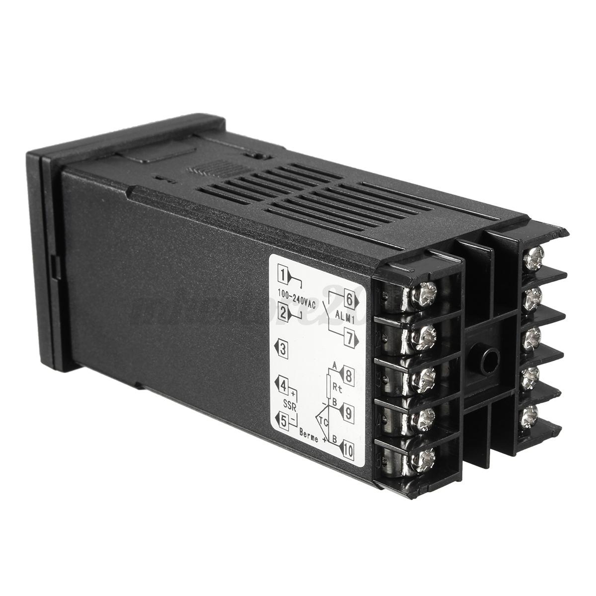 220V AC PID REX C100 Temperature Controller Max.40A SSR K Thermocouple #57534E