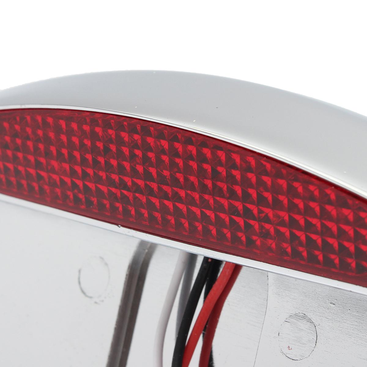 led chrome montage lat ral plaque immatriculation support feux arri re pr harley ebay. Black Bedroom Furniture Sets. Home Design Ideas