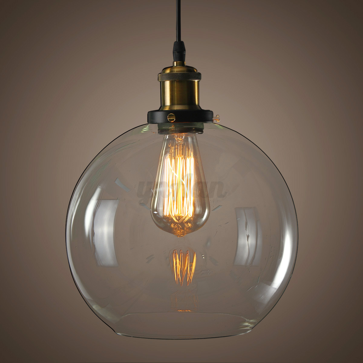 New glass modern vintage industrial retro loft ceiling for Industrial bulb pendant