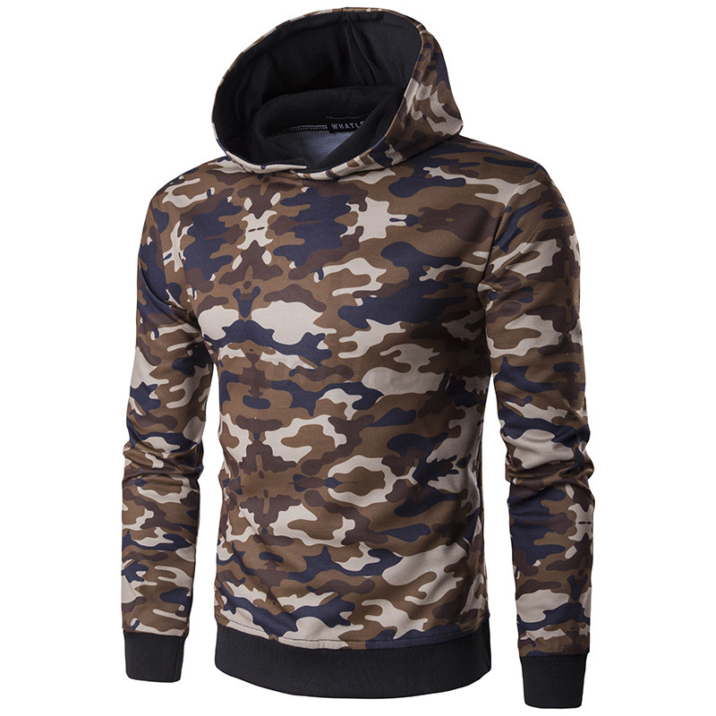 mens camouflage supreme hip hop hoodie cotton sweater. Black Bedroom Furniture Sets. Home Design Ideas