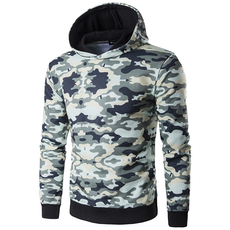 Mens Camouflage Supreme Hip Hop Hoodie Cotton Sweater ...